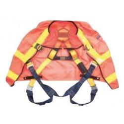 3M - 1107467 - 3M DBI-SALA 2X Delta Hi-Viz Orange Full Body/Workvest Style Harness With Back D-Ring, Pass-Thru Chest And Leg Strap Connection, ( Each )