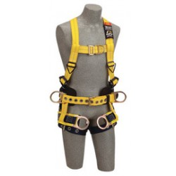 3M - 1107777 - 3M DBI-SALA Medium Delta No-Tangle Full Body/Vest Style Harness With Back, Front And Side D-Ring, Tongue Leg Strap Buckle, Belt With Pad, Seat Sling With Positioning D-Ring And 2 Tool/Pouch D-Ring, ( Each )