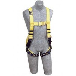 3M - 1107800 - 3M DBI-SALA Large Delta No-Tangle Full Body/Vest Style Harness With Front And Back D-Ring, Tongue Leg Strap Buckle And Loops For Belt, ( Each )