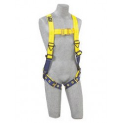 3M - 1107807 - 3M DBI-SALA Medium Delta No-Tangle Construction/Full Body/Vest Style Harness With Back And Front D-Ring And Tongue Leg Strap Buckle, ( Each )