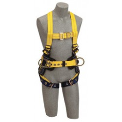 3M - 1107809 - 3M DBI-SALA X-Large Delta No-Tangle Construction/Full Body Style Harness With Back, Front And Side D-Ring, Tongue Leg Strap Buckle, Loops For Belt And Hi-Viz Web, ( Each )