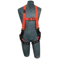 3M - 1107812 - 3M DBI-SALA Medium Delta Hi-Viz Orange No-Tangle Construction/Vest Style Harness With Back, Side And Front D-Ring, Belt And Back Pad And Tongue Leg Strap Buckle, ( Each )