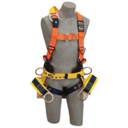 """3M - 1108128 - 3M DBI-SALA X-Large Delta No-Tangle Full Body/Vest Style Harness With Back, Side And Front D-Ring With 18"""" Extension, Tongue Leg Strap Buckle, Seat Sling With Rigid Board And Positioning D-Ring And Belt With Pad, ( Each )"""