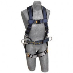 3M - 1108507 - 3M DBI-SALA X-Large ExoFit Construction/Full Body/Vest Style Harness With Back And Side D-Ring, Belt With Sewn-In Pad, Quick Connect Chest And Leg Strap Buckle And Built-In Comfort Padding, ( Each )