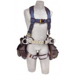 3M - 1108517 - 3M DBI-SALA Medium ExoFit Construction/Full Body/Vest Style Harness With Back And Side D-Ring, Belt With Sewn-In Pad, Tool Pouches, Quick Connect Chest And Leg Strap Buckle And Built-In Comfort Padding, ( Each )