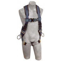 3M - 1108608 - 3M DBI-SALA 2X ExoFit Full Body/Vest Style Harness With Back, Front And Side D-Ring, Quick Connect Chest And Leg Strap Buckle, Built-In Comfort Padding And Loops For Body Belt, ( Each )