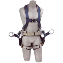 3M - 1108658 - 3M DBI-SALA 2X ExoFit Full Body/Vest Style Harness With Back, Side And Front D-Ring, Belt With Pad, Seat Sling With Suspension D-Ring, Quick Connect Chest And Leg Strap Buckle And Built-In Comfort Padding, ( Each )