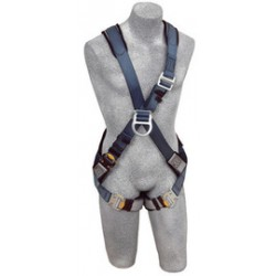 3M - 1108683 - 3M DBI-SALA 2X Exofit Climbing Cross Over Style Harness With Back And Front D-Rings, Quick Connect Buckle Leg Strap And Built-In Comfort Padding, ( Each )