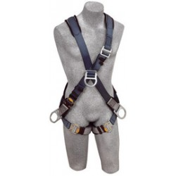3M - 1108706 - 3M DBI-SALA X-Large ExoFit Cross Over/Full Body Style Harness With Back, Front And Side D-Ring, Quick Connect Chest And Leg Strap Buckle, Loops For Body Belt And Built-In Comfort Padding, ( Each )