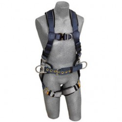 3M - 1108976 - 3M DBI-SALA X-Small Exofit Positioning/Climbing Construction Style Harness With Back, Front And Side D-Rings, Quick Connect Buckle Leg Strap, Belt With Sewn-in Back Pad And Built-In Comfort Padding, ( Each )