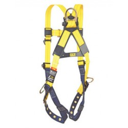 3M - 1109503 - 3M DBI-SALA Large ExoFit XP Arc Flash Full Body/Vest Style Harness With PVC Coated Back, Front And Side D-Ring, Quick Connect Buckle And Leather Insulators, ( Each )