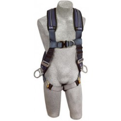 3M - 1109753 - 3M DBI-SALA X-Large ExoFit XP Full Body/Vest Style Harness With Back, Front And Side D-Ring, Quick Connect Chest And Leg Strap Buckle, Loops For Body Belt And Removable Comfort Padding, ( Each )