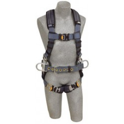3M - 1110158 - 3M DBI-SALA 2X ExoFit XP Construction/Full Body/Vest Style Harness With Back And Side D-Ring, Belt With Pad, Quick Connect Chest And Leg Strap Buckle And Removable Comfort Padding, ( Each )