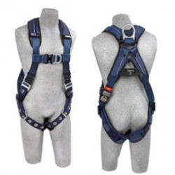 3M - 1110201 - 3M DBI-SALA Medium ExoFit XP Full Body/Vest Style Harness With Back D-Ring And D-Ring, Loops For Belt, Tongue Leg Strap Buckle And Removable Padding, ( Each )