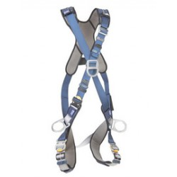 3M - 1110351 - 3M DBI-SALA Medium ExoFit XP Cross Over/Full Body Style Harness With Back, Front And Side D-Ring, Quick Connect Chest And Leg Strap Buckle, Loops For Body Belt And Removable Comfort Padding, ( Each )