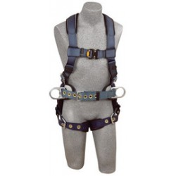 3M - 1110479 - 3M DBI-SALA 2X ExoFit Construction/Full Body/Vest Style Harness With Back And Side D-Ring, Belt With Pad, Quick Connect Chest Strap Buckle, Tongue Leg Strap Buckle And Built-In Comfort Padding, ( Each )
