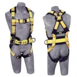 Capital Safety - 1110577 - DBI/SALA Large Delta No-Tangle Full Body/Vest Style Harness With Back And Side D-Ring, Belt With Pad, Shoulder Pads And Quick Connect Chest And Leg Strap Buckle, ( Each )