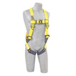 3M - 1110618 - 3M DBI-SALA 3X Delta No-Tangle Full Body/Vest Style Harness With Back D-Ring And Tech-Lite Quick Connect Leg Strap Buckle, ( Each )