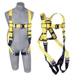3M - 1110626 - 3M DBI-SALA X-Large Delta II Vest Style Harness With Back And Side D-Rings And Quick Connect Buckle Leg Strap, ( Each )