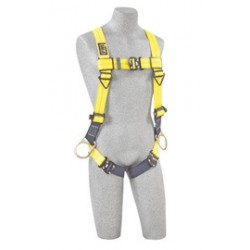 3M - 1110725 - 3M DBI-SALA Universal Delta No-Tangle Cross Over/Full Body Style Harness With Back, Front And Side D-Ring And Tech-Lite Quick Connect Leg Strap Buckle, ( Each )