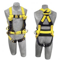 3M - 1110770 - 3M DBI-SALA Medium Delta II Arc Flash Construction Style Harness With Side D-Ring, Quick Connect Buckle Leg Strap, Belt With Hip Pad, Back Web And Front Rescue Loops And Leather Insulators, ( Each )