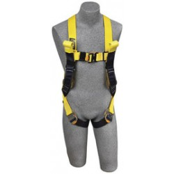 3M - 1110780 - 3M DBI-SALA Medium Delta Arc Flash No-Tangle Construction/Full Body/Vest Style Harness With Back Web Loop, Rescue Loop, Quick Connect Leg Strap Buckle And Leather Insulators, ( Each )