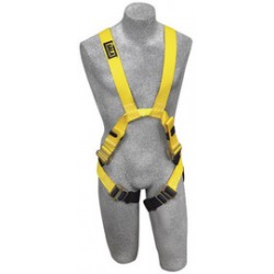 3M - 1110810 - 3M DBI-SALA Medium Delta Arc Flash No-Tangle Cross Over/Full Body Style Harness With Back And Front Web Loop, Quick Connect Leg Strap Buckle, No Metal Above Waist And Leather Insulators, ( Each )