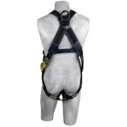 3M - 1110830 - 3M DBI-SALA Universal Delta Arc Flash No-Tangle Full Body/Vest Style Black Harness With PVC Coated Back D-Ring And Pass-Thru Leg Strap Buckle, ( Each )