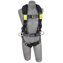 3M - 1110851 - 3M DBI-SALA Large ExoFit XP Arc Flash Construction/Full Body/Vest Style Harness With Back And Front Web Rescue Loop, Belt With Pad And Side D-Ring, Quick Connect Chest And Leg Strap Buckle, Leather Insulators And Nomex/Kevlar Comfort