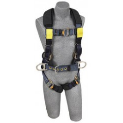3M - 1110852 - 3M DBI-SALA X-Large ExoFit XP Arc Flash Construction/Full Body/Vest Style Harness With Back And Front Web Rescue Loop, Belt With Pad And Side D-Ring, Quick Connect Chest And Leg Strap Buckle, Leather Insulators And Nomex/Kevlar Comfort