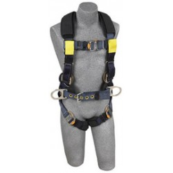 3M - 1110854 - 3M DBI-SALA 2X ExoFit XP Arc Flash Construction/Full Body/Vest Style Harness With Back And Front Web Rescue Loop, Belt With Pad And Side D-Ring, Quick Connect Chest And Leg Strap Buckle, Leather Insulators And Nomex/Kevlar Comfort Padding,