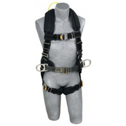 3M - 1110880 - 3M DBI-SALA Medium ExoFit XP Arc Flash Construction/Full Body/Vest Style Harness With Back Web Loop, Side D-Ring, Belt With Pad, Leather Insulators And Quick Connect Chest And Leg Strap Buckle, ( Each )