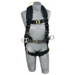 3M - 1110881 - 3M DBI-SALA Large ExoFit XP Arc Flash Flame Resistant Construction Style Harness With Side D-Ring, Quick Connect Buckle Leg Strap, Comfort Padding, Belt With Pad, Back Web Loop And Leather Insulators, ( Each )