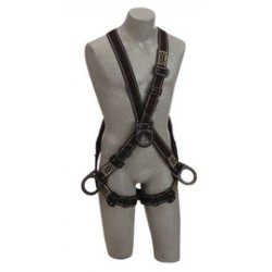 3M - 1110940 - 3M DBI-SALA Universal Delta Arc Flash No-Tangle Cross Over/Full Body Style Harness With PVC Coated Back, Front And Side D-Ring And Pass-Thru Leg Strap Buckle, ( Each )
