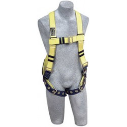 3M - 1110990 - 3M DBI-SALA Universal Delta No-Tangle Full Body/Vest Style Harness With Back D-Ring, Tongue Leg Strap Buckle And Resist Web, ( Each )