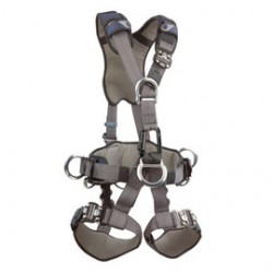 3M - 1111301 - 3M DBI-SALA Medium ExoFit XP Construction/Full Body/Vest Style Harness With Back And Side D-Ring, Quick Connect Chest And Leg Strap Buckle, Belt With Pad, Comfort Padding And Leather Insulator, ( Each )