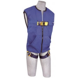 3M - 1111578 - 3M DBI-SALA 2X Delta No-Tangle Full Body/Workvest Style Harness With Back D-Ring And Quick Connect Leg Strap Buckle, ( Each )