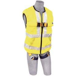3M - 1111583 - 3M DBI-SALA Small Delta Hi-Vis Reflective Work Vest Style Harness With Back D-Ring And Quick Connect Buckle Leg Strap, ( Each )