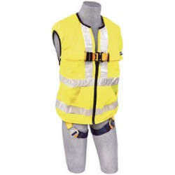 3M - 1111585 - 3M DBI-SALA X-Large Delta Hi-Vis Reflective Work Vest Style Harness With Back D-Ring And Quick Connect Buckle Leg Strap, ( Each )