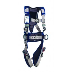 3M - 1112553 - 3M DBI-SALA X-Large ExoFit STRATA Construction Style Harness With Aluminum Back And Side D-rings, Duo-Lok Quik Connect Buckles, Waist Pad And Belt, ( Each )