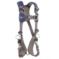 3M - 1113076 - 3M DBI-SALA Small ExoFit NEX Full Body/Vest Style Harness With Tech-Lite Aluminum Back, Front And Side D-Ring, Duo-Lok Quick Connect Leg And Chest Strap Buckle, Torso Adjuster, Back And Leg Comfort Padding And Loops For Body Belt, ( Each )