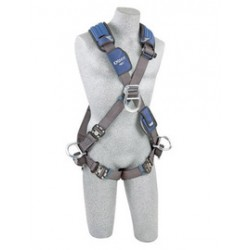 3M - 1113112 - 3M DBI-SALA Large ExoFit NEX Cross Over/Full Body Style Harness With Tech-Lite Aluminum Back, Front And Side D-Ring, Duo-Lok Quick Connect Leg Strap Buckle, Torso Adjuster, Back And Leg Comfort Padding, ( Each )