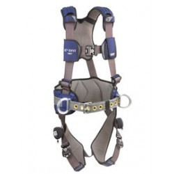 3M - 1113163 - 3M DBI-SALA 2X ExoFit NEX Construction/Full Body Style Harness With Tech-Lite Aluminum Back, Front And Side D-Ring, Duo-Lok Quick Connect Leg And Chest Strap Buckle, Belt With Pad, Torso Adjuster, Back And Leg Comfort Padding, ( Each )
