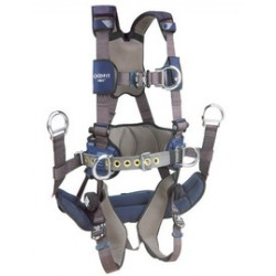 3M - 1113194 - 3M DBI-SALA 2X ExoFit NEX Full Body/Vest Style Harness With Front D-Ring, Tongue Leg Strap Buckle, ( Each )
