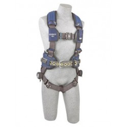 3M - 1113197 - 3M DBI-SALA Large ExoFit NEX Full Body/Vest Style Harness With Tech-Lite Aluminum Back D-Ring, Miner'S Belt With Pad And Side D-Ring, Duo-Lok Quick Connect Leg And Chest Strap Buckle, Torso Adjuster, Back And Leg Comfort Padding, ( Each )