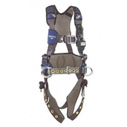 3M - 1113217 - 3M DBI-SALA Large ExoFit NEX Full Body/Vest Style Harness With Tech-Lite Aluminum Back And Front D-Ring, Duo-Lok Quick Connect Leg And Chest Strap Buckle, Torso Adjuster, Back And Leg Comfort Padding, Wind Energy Belt With Pad And Side
