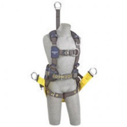 """3M - 1113293 - 3M DBI-SALA X-Large ExoFit NEX Full Body/Vest Style Harness With Tech-Lite Aluminum Back D-Ring With 18"""" Extension And Front D-Ring With Duo-Lok Quick Connect Chest Strap, Tongue Leg Strap Buckle And Belt With Pad, Soft Seat Sling With"""