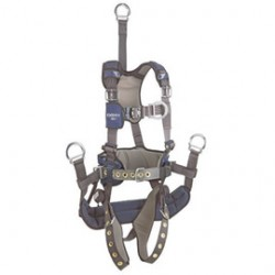 """3M - 1113298 - 3M DBI-SALA X-Large ExoFit NEX Full Body/Vest Style Harness With Tech-Lite Aluminum Back D-Ring With 18"""" Extension And Front D-Ring, Tongue Leg Strap Buckle And Belt With Pad, Soft Seat Sling With Positioning D-Ring, Back And Leg"""
