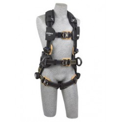 3M - 1113317 - 3M DBI-SALA Large ExoFit NEX Arc Flash Construction/Full Body/Vest Style Harness With Tech-Lite PVC Coated Aluminum Back And Side D-Ring, Duo-Lok Quick Connect Leg And Chest Strap Buckle, Belt With Pad, Torso Adjuster, Back And Leg Comfort