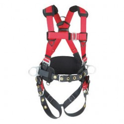 3M - 1191299 - 3M DBI-SALA PROTECTA Construction Style Harness With (3) D-Ring, Back Pad And Belt, ( Each )